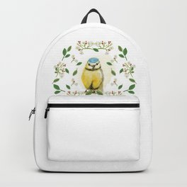 Blue Tit - Bird Watercolor Backpack