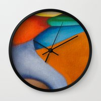 literary Wall Clocks featuring No Meio do Caminho (In The Middle Of The Road) by Fernando Vieira