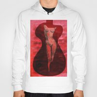 guitar Hoodies featuring guitar by Shelby Claire