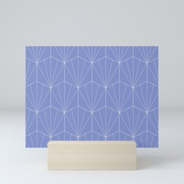 Gisela Geometric Line Pattern - Denim Mini Art Print