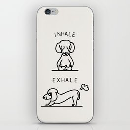 Inhale Exhale Dachshund iPhone Skin