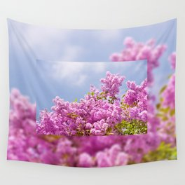 Lilac vibrant pink bunches Wall Tapestry