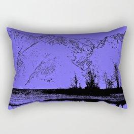 Knik River Mts. Pop Art - 1 Rectangular Pillow