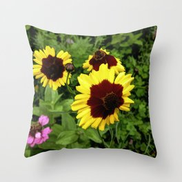 Flowers In Mid-Summer Throw Pillow