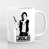 han solo Mugs featuring Han Solo by Mister Munny