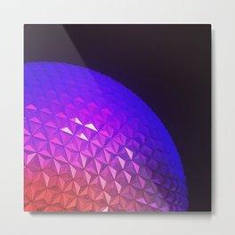 Spaceship Earth by Night Metal Print