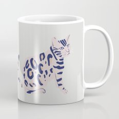 Cat's Aberration, animal, cat art print, illustration Mug