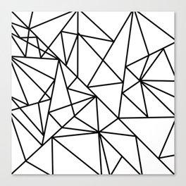 Black white modern abstract geometrical pattern Canvas Print