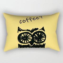Coffee? Morning owl print, good morning to all coffee lovers  Rectangular Pillow