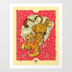 TIGRE MANSO Art Print