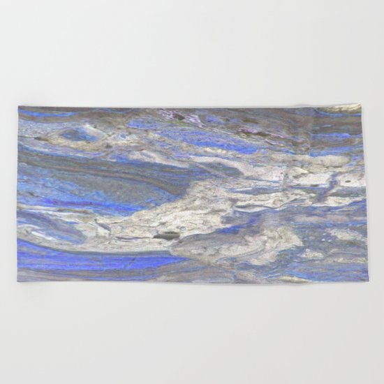 Arabescato-Orobico-Blue-Marble Beach Towel