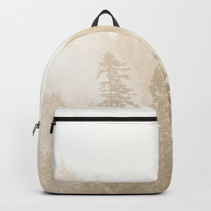 Vintage Sepia Fir Trees Backpack