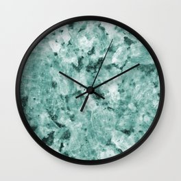 Mint Green Crystal Marble Wall Clock