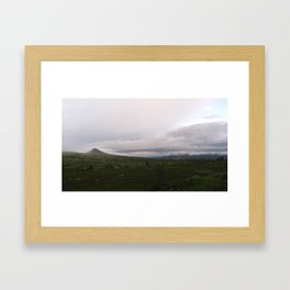 Misty Mount Städjan Framed Art Print