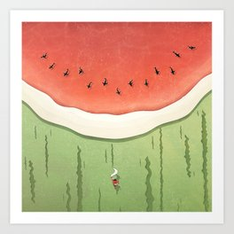 Fleshy Fruit (Watermelon) Art Print