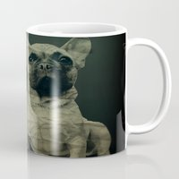 frenchie Mugs featuring Frenchie by Mi Nu Ra