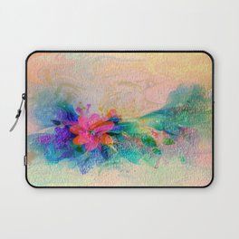 Soft Colorful Pastel Shaded Floral Abstract Laptop Sleeve