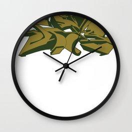 Style grafffiti green Wall Clock