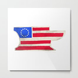Betsy Ross Anvil Flag- Iron Ram Forge Metal Print