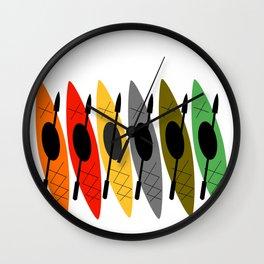 Kayaks in Earth Tone Colors Wall Clock