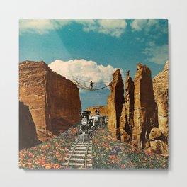 Ride Through Poppy Valley Metal Print