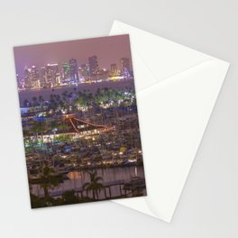 San Diego Skyline seen from Point Loma Stationery Cards