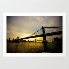 GW Bridge NYC Art Print