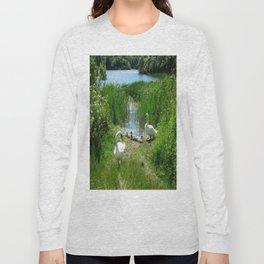 Bosherston Lily Ponds.Pembrokeshire.Wales. Long Sleeve T-shirt