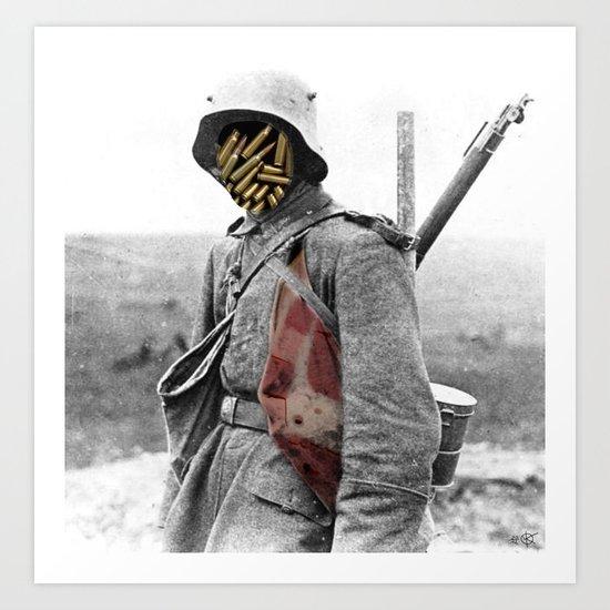 Fuck War Collage Art Print