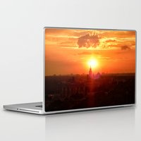 russia Laptop & iPad Skins featuring sunset in Russia by gzm_guvenc