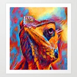 Chameleon Watercolor Art Print
