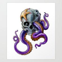 Sea Skull Art Print