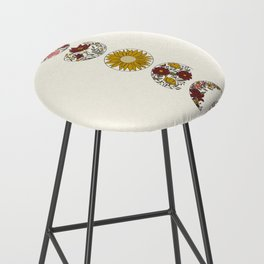 Floral Phases of the Moon Bar Stool