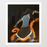 korra Art Prints featuring Korra by charcola