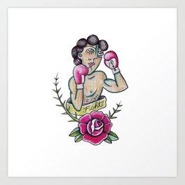 Boxeador Art Print