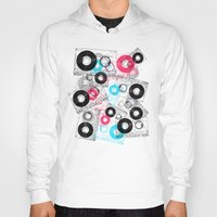 tape Hoodies featuring Mix Tape by Jorge Lopez
