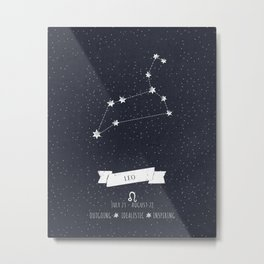 Leo Constellation Print Metal Print