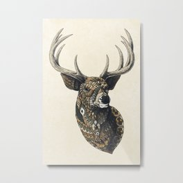 White-Tailed Deer (Color Version) Metal Print