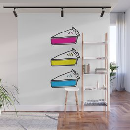 3 Pies - CMYK/White Wall Mural