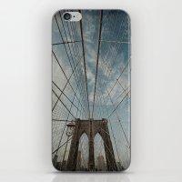 brooklyn bridge iPhone & iPod Skins featuring Brooklyn Bridge by Jean-Pierre Ducondi