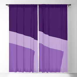 Two ways (Purple series) Blackout Curtain