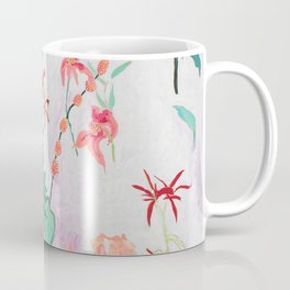 Abstract Jungle Floral on Pink and White Coffee Mug