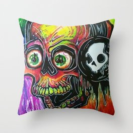 Death By Stereo Throw Pillow