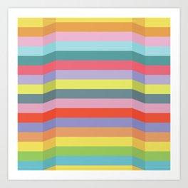 Speed Bumps (Bright Retro Palette) Art Print
