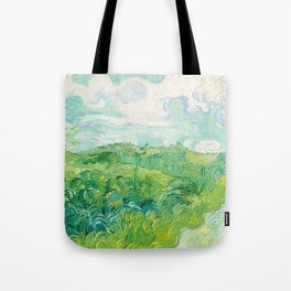 Green Wheat Fields - Auvers, by Vincent van Gogh Tote Bag