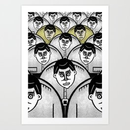 TWO GATHER Art Print