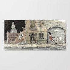 Night Stroll Through Paris Canvas Print