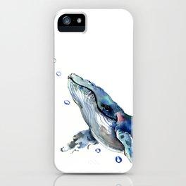 Whale Artowrk, Humpback Whale iPhone Case
