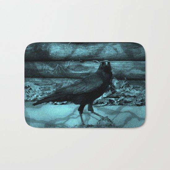 Blue Crow Shadows Bath Mat