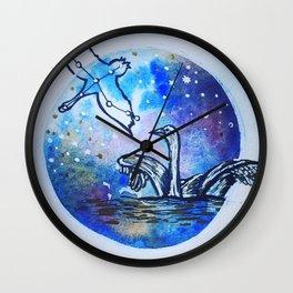 Cygnus the swan Wall Clock